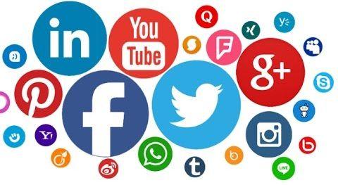 íconos de diversas redes sociales
