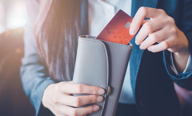 Tarjeta de crédito en cartera personal